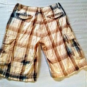 Arizona Jean Company Shorts - ARIZONA men's plaid walking shorts size 32 waist